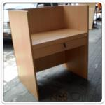 A11A064:โต๊ะทำงาน Call Center ผิวพีวีซี ขอบยาง รุ่น COC-1201 ขนาด 80W*60D*(75-110H) cm.