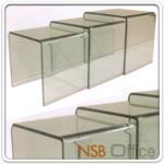 B13A050:โต๊ะกลางกระจกล้วน 3 ชิ้น 114 cm รุ่น  ACC