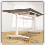 A05A069:โต๊ะพับอเนกประสงค์ รุ่น YT-FTG10 160W*80D cm. พร้อมช่องใส่กระดาษ