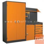 E09A022:ชุดตู้เก็บเครื่องมือช่าง 215.5W*49.7D*183H cm. พร้อมแผ่นท็อปแผ่นชั้นและอุปกรณ์เสริม
