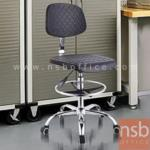 B02A070:เก้าอี้บาร์ที่นั่งเหลี่ยมล้อเลื่อน รุ่น PL-1177  โช๊คแก๊ส ขาเหล็กชุบโครเมี่ยม