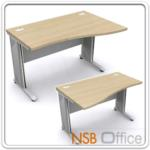 A18A016:โต๊ะทำงานหน้าโค้ง  ขนาด 120W ,135W ,150W ,165W ,180W cm.  เมลามีน