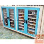 ตู้รองเท้า 2 บานเปิดกระจก สูง 105 ซม.  รุ่น MAX-033