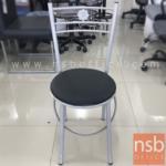 L02A292:เก้าอี้โมเดิร์นหนังเทียม CHAIR7 พิงหลังตรงกลางลายดอกไม้ (STOCK-1 ตัว)