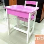 A17A043:ชุดโต๊ะไม้ยางพารา ขนาด 65H cm. พร้อมเก้าอี้เข้าชุด