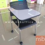 B07A080:เก้าอี้เลคเชอร์เฟรมโพลี่ล้อเลื่อน รุ่น CV-661  ขาเหล็กชุบโครเมี่ยม
