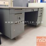 E04A004:โต๊ะทำงานเหล็ก หน้าลามิเนต 7 ลิ้นชัก ขนาด 5 ฟุต รุ่น MT-3060