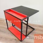 L01A095:โต๊ะวางของ แดง/ดำ