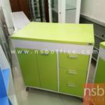 L03A128:เคาท์เตอร์ครัว สีเขียว ขนาด80*50*83 มีจำนวน1ใบ