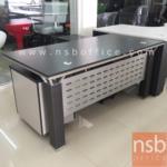 A13A019:โต๊ะผู้บริหารตัวแอล  160W, 180W, 220W รุ่น RZ-STYLISH พร้อมตู้ข้าง