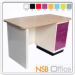 E22A003:โต๊ะทำงานหน้า Melamine ลายไม้ (สีบีช) 4 ฟุต