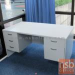 A12A004:โต๊ะทำงาน 5 ลิ้นชักข้าง 150W, 160W, 165W, 180W cm (75D, 80D cm) เมลามีน