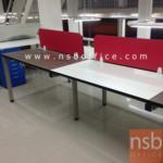 A04A141:ชุดโต๊ะทำงานกลุ่ม Smart-S120 พร้อมมินิสกรีน (120W*60D / ที่นั่ง)