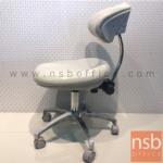 B09A206:เก้าอี้ห้องทดลองเบาะ pu foam หุ้มหนัง DT-02  ขาอลูมิเนียม ลูกล้อเก็บเสียง