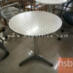 L01A093:โต๊ะกลมสแตนเลส ขนาด62*62*70ซม.