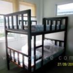 G11A085:เตียงเหล็ก 2 ชั้น ขนาด 3.5 ฟุต เหล็กกล่องขนาดใหญ่พิเศษ  7W*3D cm (งานอพาร์ทเมนท์)
