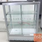L04A037:ตู้กระจกโชว์สินค้าล้อเลื่อน รุ่น NSB-KITCHEN3  อลูมิเนียมล้วน (STOCK 1 ตู้)