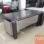 L01A001:โต๊ะผู้บริหารตัวแอล 160W*80D*76H cm.(สินค้าชุดโชว์จำนวน 1 ชุด)