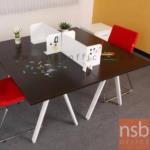 A23A001:ชุดโต๊ะทำงาน 2 ที่นั่ง ขาเหล็ก A-LEG พร้อมมินิสกรีน (ไม่รวมตู้ลิ้นชักล้อเลื่อน)