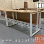 A10A085:โต๊ะทำงานโล่งทรงสีเหลี่ยม รุ่น CV-CM3 ขนาด 80W ,120W ,135W, 150W ,160W ,180W cm. ขาเหล็กกล่อง