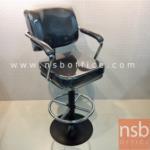 B09A079:เก้าอี้บาร์ที่นั่งเหลี่ยม รุ่น TK-31A  ขาเหล็กพ่นดำ
