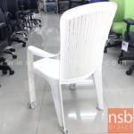 เก้าอี้พลาสติกล้วนสีขาว  ขนาด 44W*91H cm. (STOCK-1 ตัว)