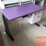 L01A005:โต๊ะคอมพิวเตอร์ 2 ลิ้นชักขวา ขาเหล็กโครเมียมดำ (สต็อก 1 ตัว)