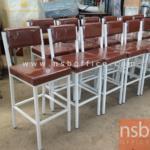 B09A095:เก้าอี้บาร์สูงที่นั่งเหลี่ยม สี่ขา TK-31A มีที่พักเท้า