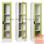 E24A002:ตู้เหล็กเอนกประสงค์ 1 บานเปิดกระจกสูง 4 ช่อง TL-400 ( 44W*40.7D*176H cm)