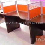 A12A060:โต๊ะทำงานโล่ง หน้าเว้าโค้งใบไม้ 120,150,180W (60D,75D) cm