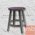 B29A239:เก้าอี้โครงเหล็ก รุ่น  FTS-215-81 ที่นั่งไม้