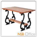 G08A026:โต๊ะสนามไม้เต็ง เหล็กหล่อ กทม.BKK-TOO20 (100, 120, 150, 200 cm)