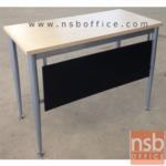 A07A044:โต๊ะอเนกประสงค์ ไม่มีตระแกรง 120W, 150W, 180W (60D, 80D) cm. F-19 ขาเหล็กบรอนซ์เงิน
