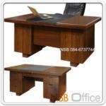 A06A090   :โต๊ะผู้บริหารตัวเดี่ยว สีสัก รุ่น BC-OFT-003L มี 6 ลิ้นชัก (140W และ 160W cm.)
