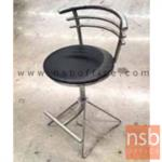 B09A199:เก้าอี้บาร์สตูลที่นั่งกลม   โครงขาเหล็กเหลี่ยม ขาเหลี่ยมหางปลา