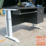 A18A010:โต๊ะคอมพิวเตอร์ขาเหล็ก 2 ลิ้นชักข้าง 120W*60D cm (ขาเลือกสีได้) ผิวเมลามีน