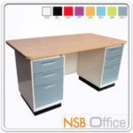 E22A004:โต๊ะทำงานหน้า Melamine ลายไม้ (สีบีช) 5 ฟุต