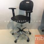 B09A194:เก้าอี้บาร์ที่นั่งเหลี่ยมล้อเลื่อน รุ่น PE-BAL-002  โช๊คแก๊ส ขาเหล็กชุบโครเมี่ยม