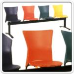 B06A046:เก้าอี้นั่งคอย เปลือกโพลีรูปถ้วย B321 โครงขาดำ