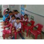 B10A048:เก้าอี้พลาสติกเด็ก มีท้าวแขน สีสันสดใส