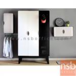 E25A054:ชุดตู้เสื้อผ้าเหล็ก พร้อมตู้แขวนบานเปิดแนวตั้งและตู้แขวนบานเปิดแนวนอน รุ่น KO-PT