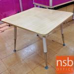 A05A125:โต๊ะประชุมเหลี่ยมมุมโค้ง ขนาด 100W*100D cm. ขาปลายเรียวโครเมี่ยม