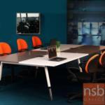 A22A007:ชุดโต๊ะประชุม 8-12 ที่นั่ง 320W*160D cm TY-FC40-6123 พร้อมฝาเปิดปิดปลั๊กไฟบนโต๊ะ