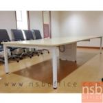 A05A087:โต๊ะประชุมทรงสี่เหลี่ยม 180D cm. รุ่น CONNEXX-081  ขนาด 280W ,320W ,440W ,520W ,620W cm. ขากลางมีกล่องร้อยสายไฟ