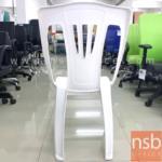 เก้าอี้พลาสติกล้วนสีขาว  ขนาด 37W*80H cm. (STOCK-1 ตัว)