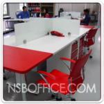 A04A022:ตัวอย่างติดตั้งหน้างาน ชุดโต๊ะทำงานกลุ่ม Hybrid หลายๆรูปแบบ