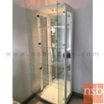 ตู้โชว์กระจกดาวน์ไลท์สูง 190 ซม. รุ่น Walden (วอลเดน) มีไฟในตัว (หลังกระจกเงา)