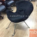 B22A059:เก้าอี้สตูลโมเดิร์น หุ้มผ้า รุ่น GH-MI53M ขาเหล็กชุบโครเมี่ยม