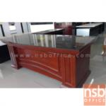A06A046:โต๊ะผู้บริหาร ตัวแอล Amour 200W*85D cm (3 ชิ้น พร้อมตู้ลิ้นชักและตู้ข้าง)