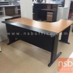 A10A008:โต๊ะทำงานตัวแอล ขาเหล็กดำ รุ่น S-DK-84161 ขนาด 160W1*140W2*80D1*50D2 cm. บังโป้เหล็ก เมลามีนสีทูโทน
